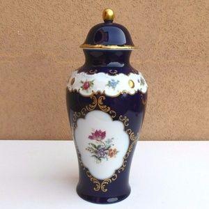 WALLENDORF Porzellan Echt Kobalt Lidded Jar DRESS